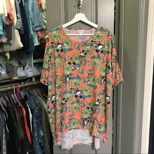 Lularoe Minnie Mouse Irma High Low Shirt